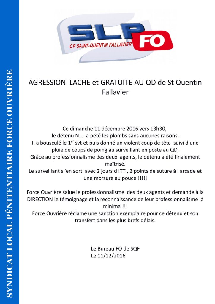TRACT FO St quentinFallavier