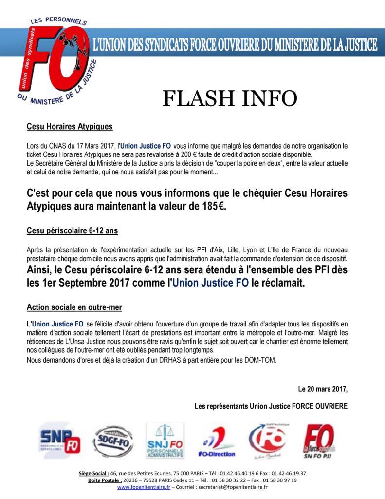 Flash inFO - Cesu Horaires Atypiques