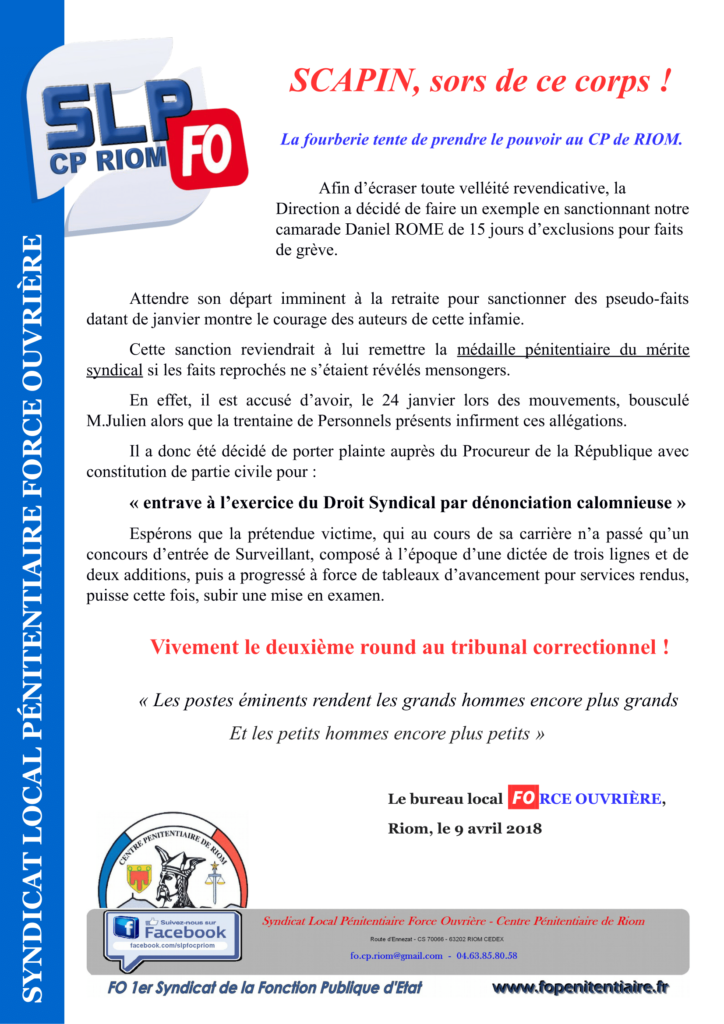 Tract SCAPIN-1