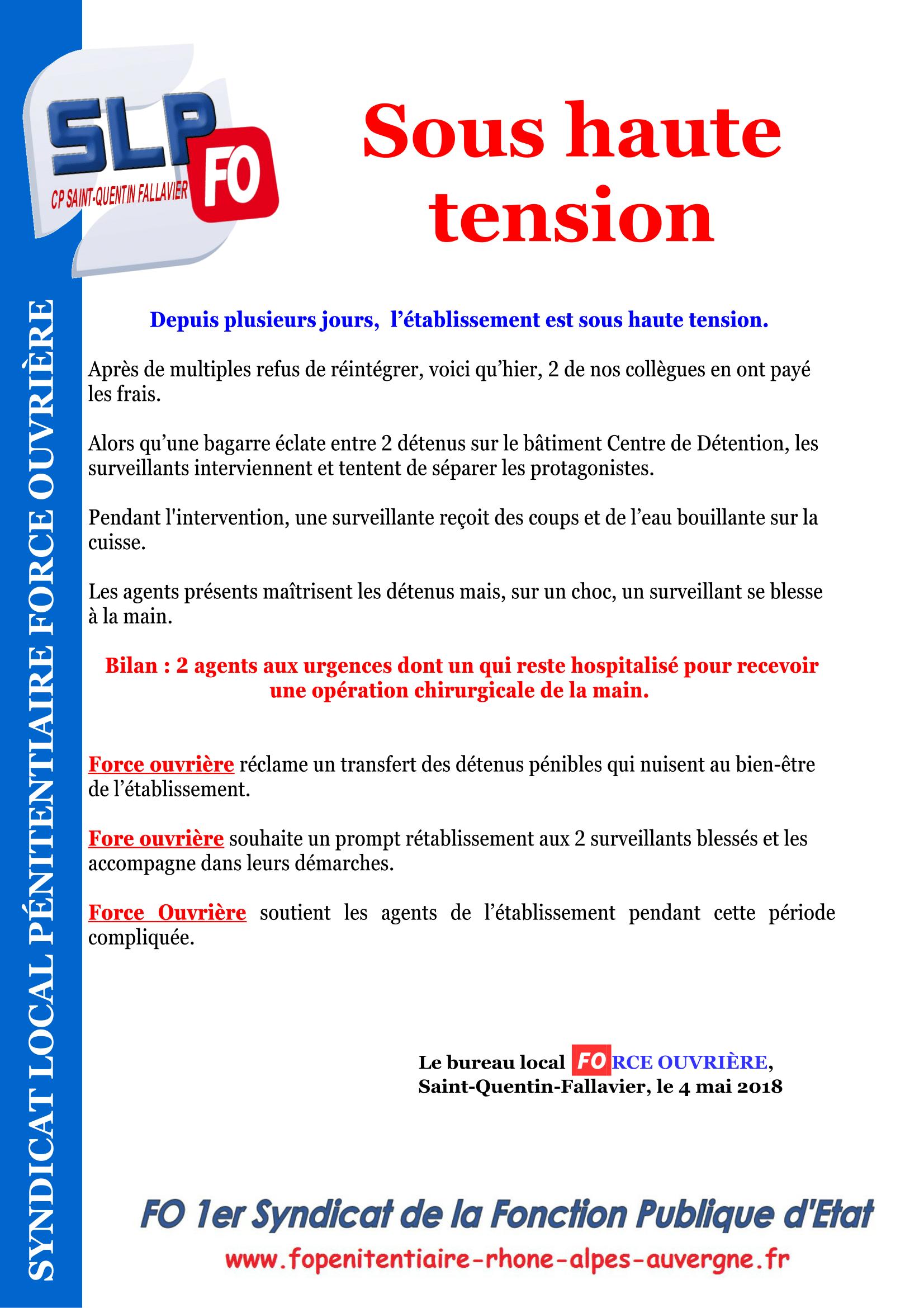 Tract CP Saint-Quentin-Fallavier - Sous haute tension-1